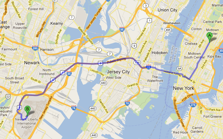 Getting From New York City To Newark Airport