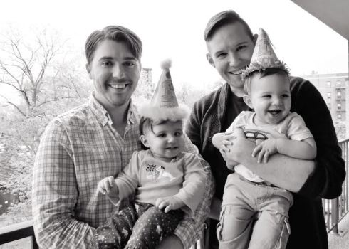 julianne daddy josh henry papa matt first birthday twins